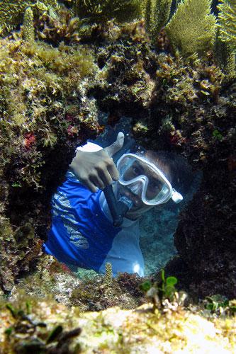 Giorgio snorkeling