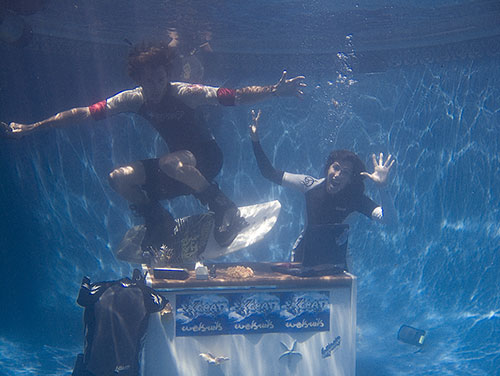 underwater office wakeboarding