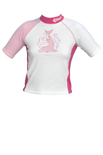 Exceed Esprit Pink Kids Short Sleeve Rash Guard