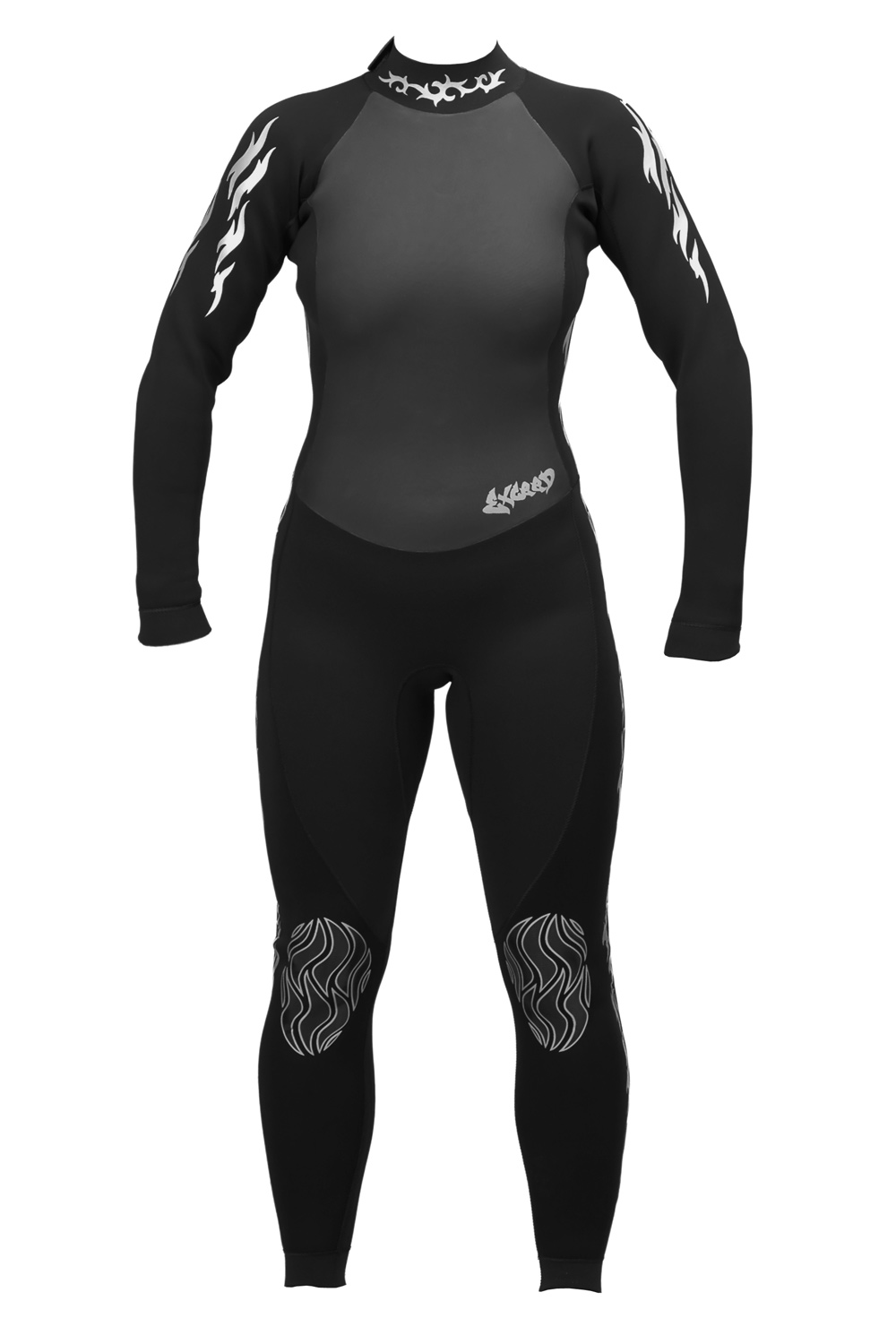 Exceed Empress Black Womens 3/2mm Full Wetsuit