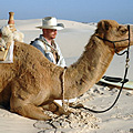 Our guide with one of his camels